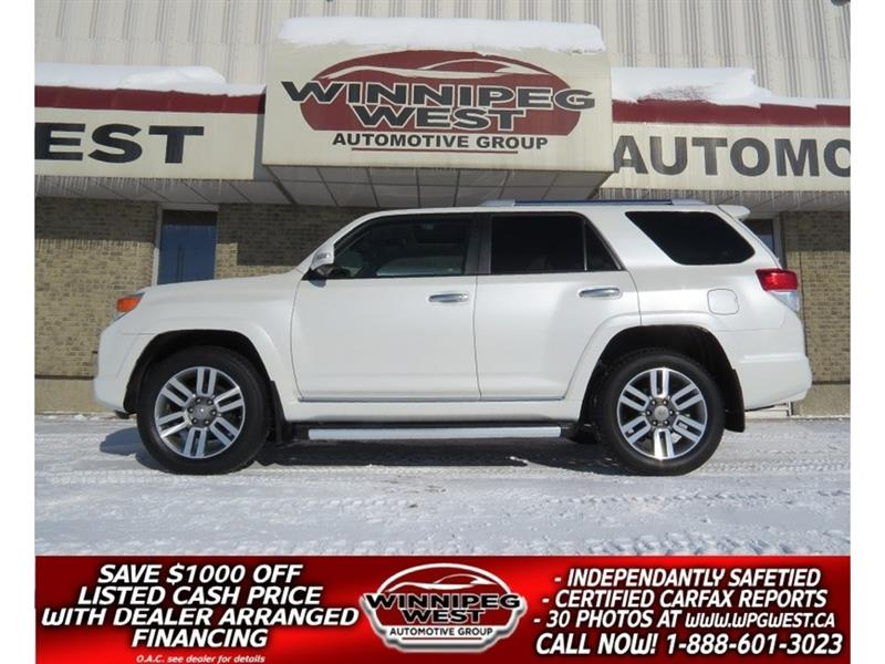 2012 Toyota 4Runner LIMITED 4X4, 7 PASS, LEATH, ROOF, NAV, LOAD & MINT #GIW4953