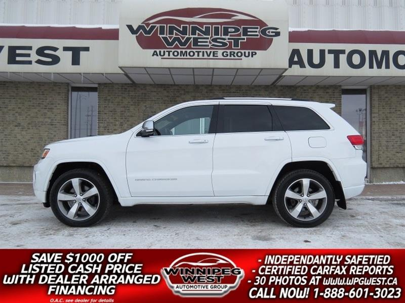 2014 Jeep Grand Cherokee OVERLAND 4X4 ECO-DIESEL, EVERY OPTION, LOW KMS! #DNW4944