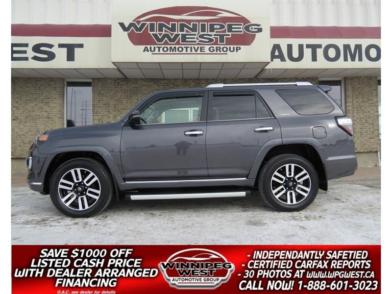 2017 Toyota 4Runner LIMITED 4X4 7 PASS, NAV ,ROOF, LEATHER,  34KMS #GIW4956