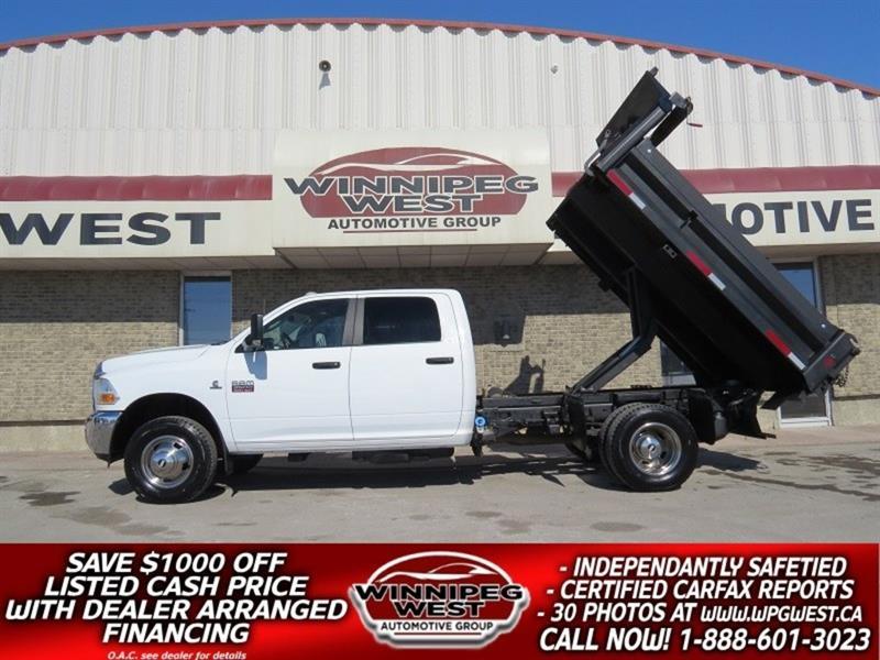 2011 Dodge Ram 3500 SLT CREW CUMMINS DUMP/DECK TRUCK, 2 TO CHOOSE FROM #DW4960A