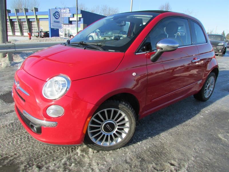 Fiat 500c 2012 Lounge DECAPOTABLE A/C CUIR CRUISE!! #4225A
