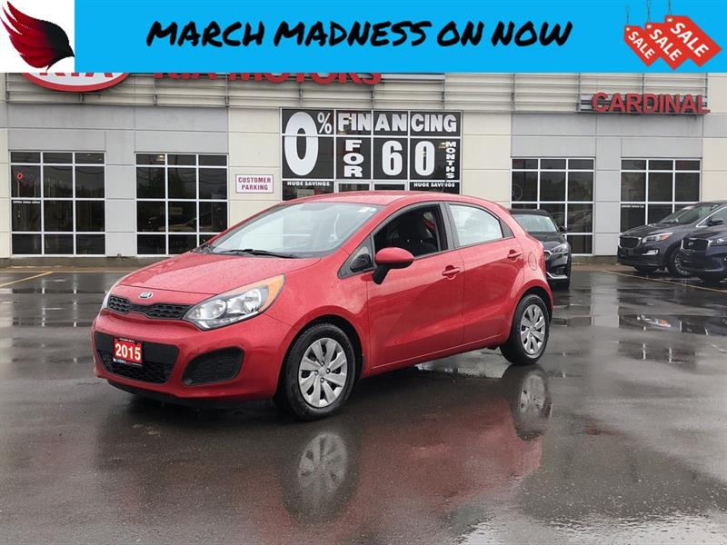 2015 Kia Rio LX + with HEATED SEATS and BLUETOOTH and CRUISE #R18292A
