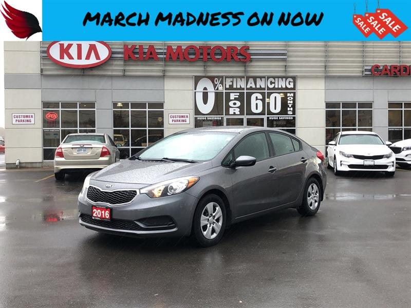 2016 Kia Forte LX with BLUETOOTH and AIR CONDITIONING and USB #FR19116A