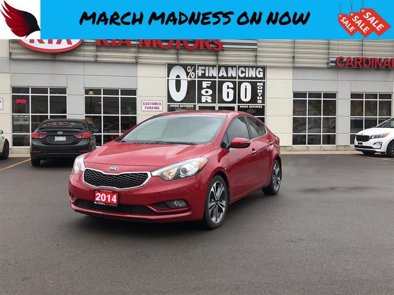 2014 Kia Forte SX with NAVIGATION and HEATED SEATS and SUNROOF #SP18014A