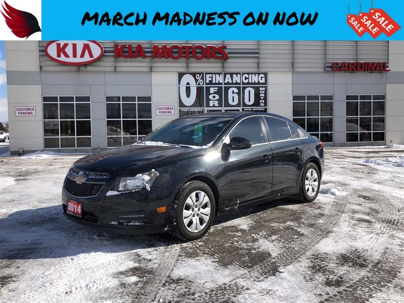 2014 Chevrolet Cruze CARPROOF CLEAN with BLUETOOTH and CRUISE CONTROL #8032