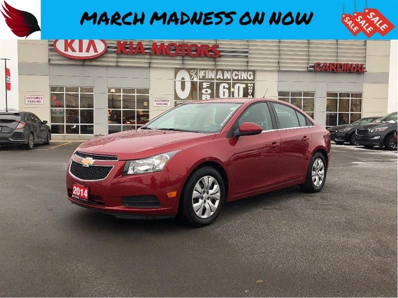 2014 Chevrolet Cruze LOW KILOMETERS with BLUETOOTH and CRUISE CONTROL #8031