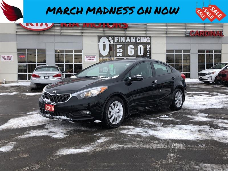 2015 Kia Forte LX + with HEATED SEATS and BLUETOOTH and CRUISE #FR18235A