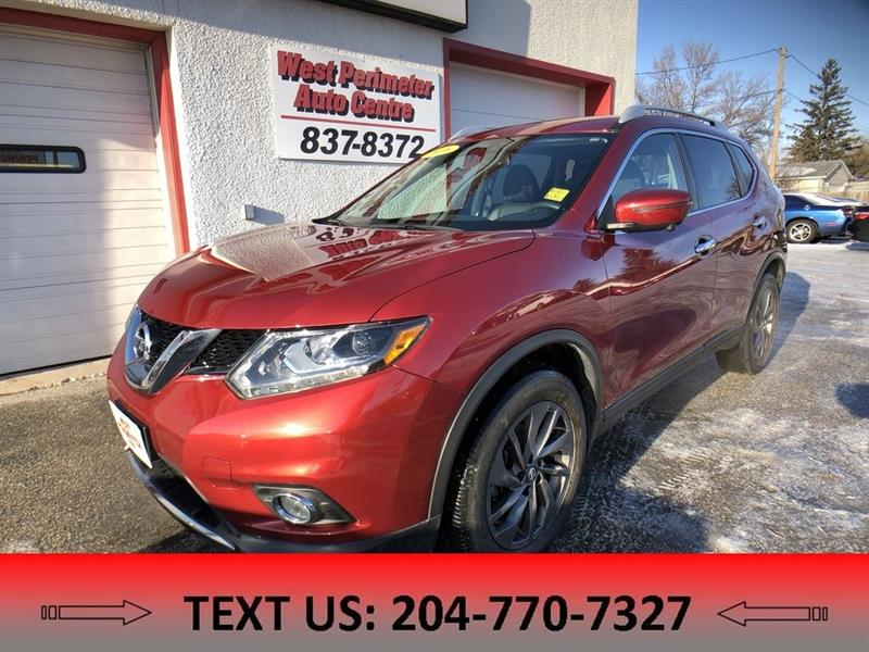2016 Nissan Rogue SL Premium AWD, Heated leather, Sunroof, B/UP Cam #5396