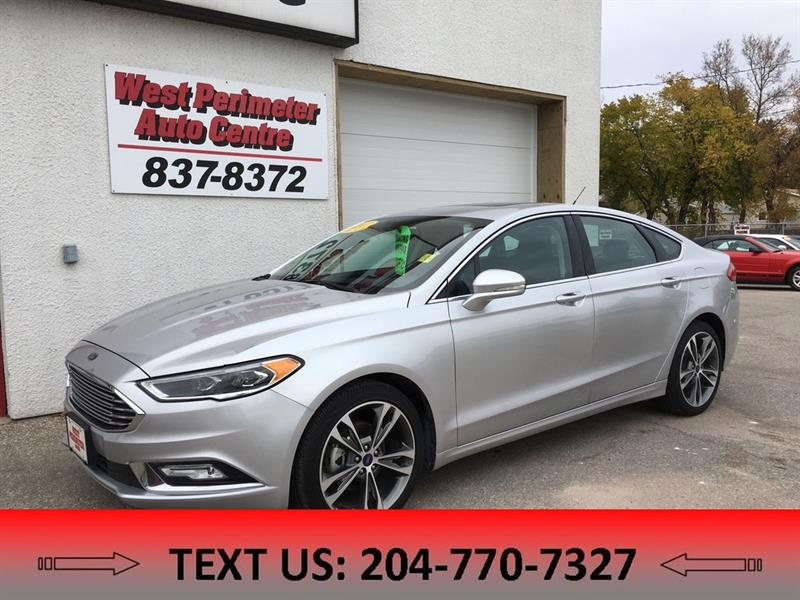 2017 Ford Fusion Titanium AWD, Navigation, Htd Leather #5412