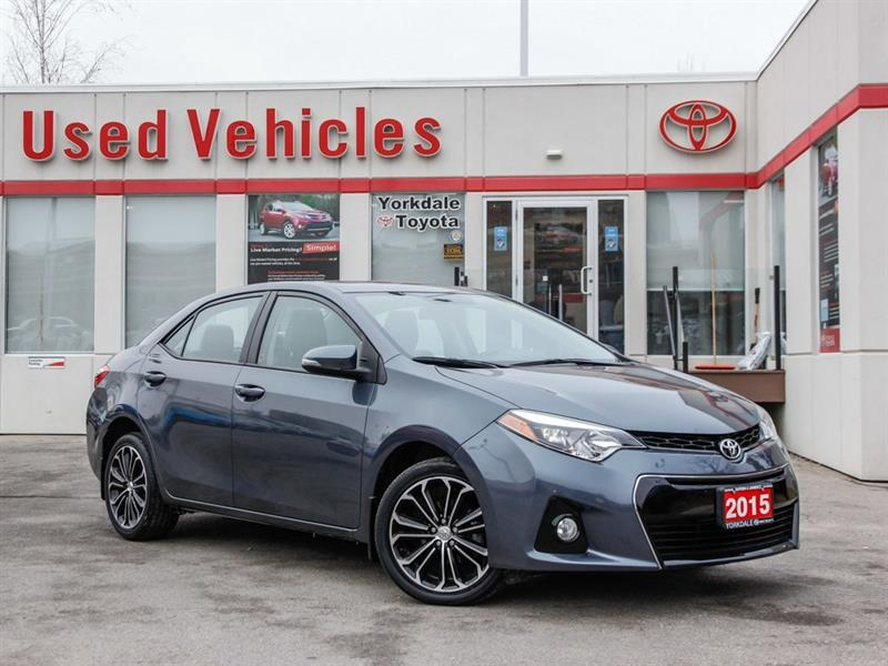 2015 Toyota Corolla S   Sunroof   Alloys   H.Seats   R.Cam   B.Tooth #L7823