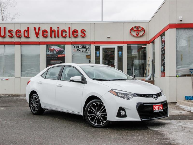 2015 Toyota Corolla S   Navi   Leather   Sunroof   Alloys   H.Seats #L7843