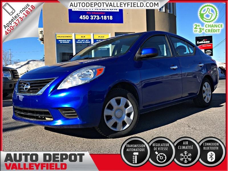 Nissan Versa 2012 SV Auto. + AC, Cruise, Gr Electrique #P1341