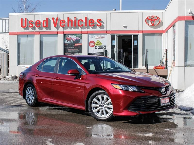 2018 Toyota Camry LE   R.Cam   H.Seats   Alloys   Keyless   B.Tooth #C7920