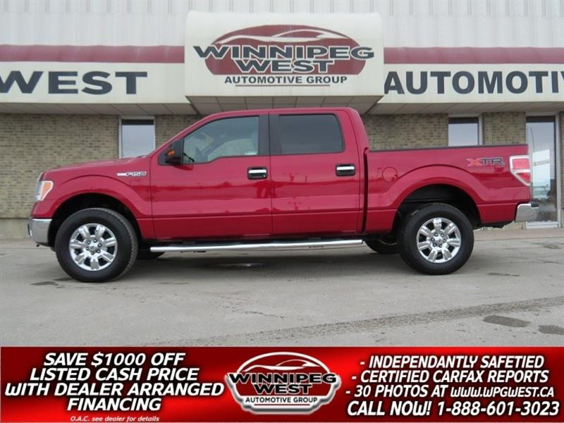 2012 Ford F-150 XTR CREW 5.0L V8 4X4, CAMERA, LOADED, LOCAL TRADE #GW4973