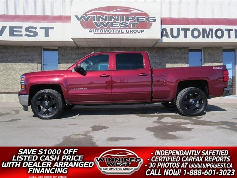 2015 Chevrolet Silverado 1500 LT2 Z71 CREW CAB 5.3L V8 4X4, LOCAL ACCIDENT FREE #GW4978