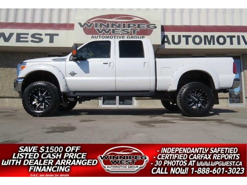 2016 Ford F-350 HUGE LIFT LARIAT POWERSTROKE DIESEL, LOAD, LOW KM #DWL4974