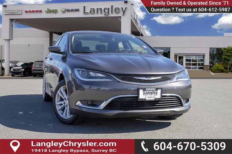 2016 Chrysler 200 Limited #K507463A
