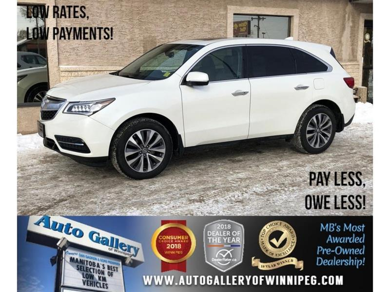 2014 Acura MDX NAV PKG *AWD/Htd Lthr/Roof/Navi/B.Cam #23533