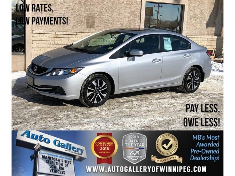 2015 Honda Civic Sedan EX *5Spd/Bluetooth/Sunroof/Htd Seats #23552