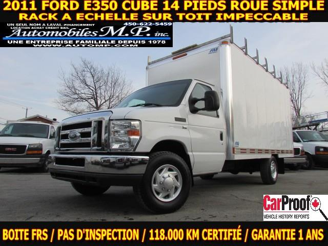 Ford E-350 2011 CUBE 14 PIEDS ROUE SIMPLE 118.000 KM  #1302