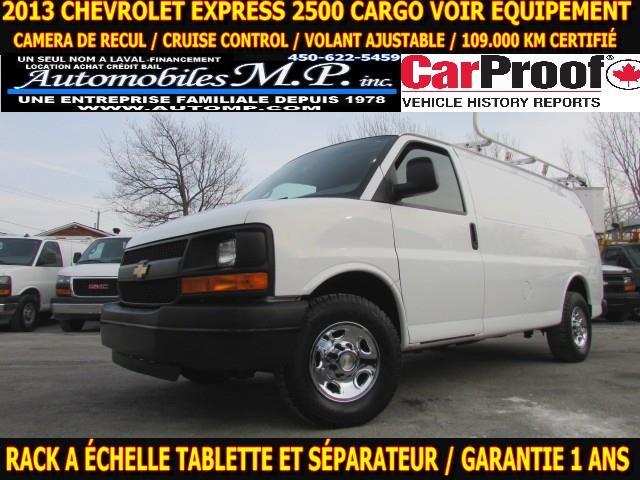 Chevrolet Express 2500 2013 CARGO RACK A ECHELLE TABLETTE VOIR ÉQUIPEMENT  #6422