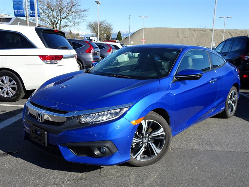 2017 Honda Civic Coupe Touring CVT! Honda Certified Extended Warran #LH8631