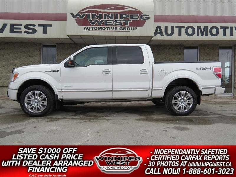 2012 Ford F-150 PLATINUM EDiITION 4X4, ROOF, LEATHER, MINT!! #GW4994