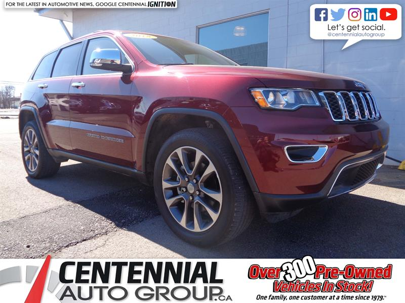 2018 Jeep Grand Cherokee Limited | 4x4 | Leather | Moonroof | Bluetooth #P19-026
