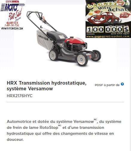 Honda TONDEUSE  HRX 2175 HYC 2019