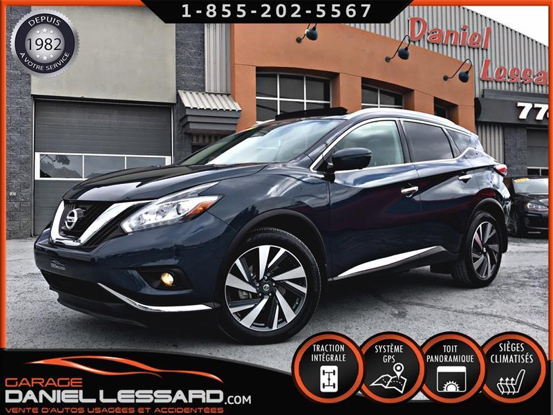 Nissan Murano 2017 PLATINUM, AWD, BAS KM, 3.5 L, FULL ÉQUIPE ! PRÊT ! #78646