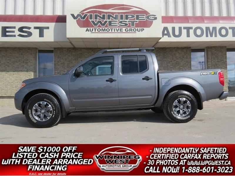 2019 Nissan Frontier PRO-4X CREW 4X4, HTD LEATHER, SUNROOF, NAV & MORE! #GW4979