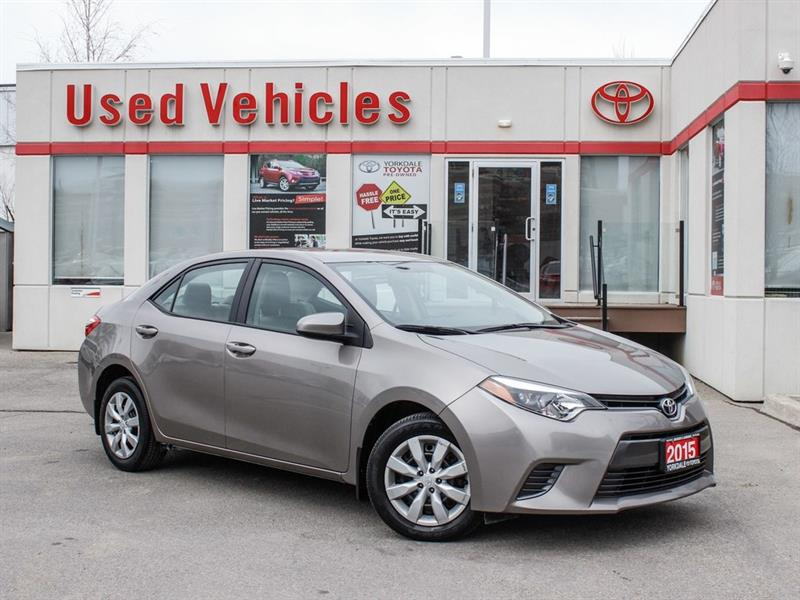 2015 Toyota Corolla LE   H.Seats   R.Cam   B.Tooth   Keyless #L7978