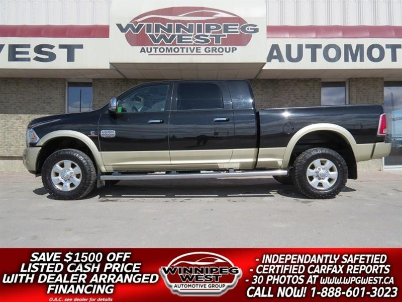 2016 Dodge Ram 2500 MEGA LONGHORN CUMMINS 4X4, FULL LOAD  LOW KM LOCAL #DW4990A