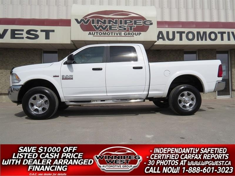 2017 Ram 2500 OUTDOORSMAN CREW 4X4, HEMI V8, LIKE NEW & LOW KMS! #GW4985