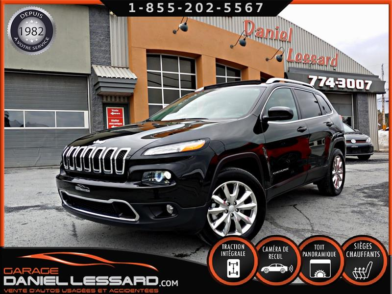 Jeep Cherokee 2017 AWD LIMITED, 3.2 L V6, TOIT PANO, CUIR, FULL !!! #79103