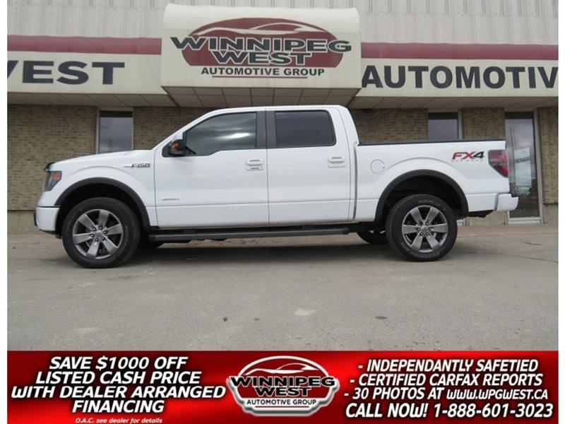 2013 Ford F-150 FX4 LUXURY CREW 4X4, LOCAL TRADE, LEATH & MORE! #GW4988