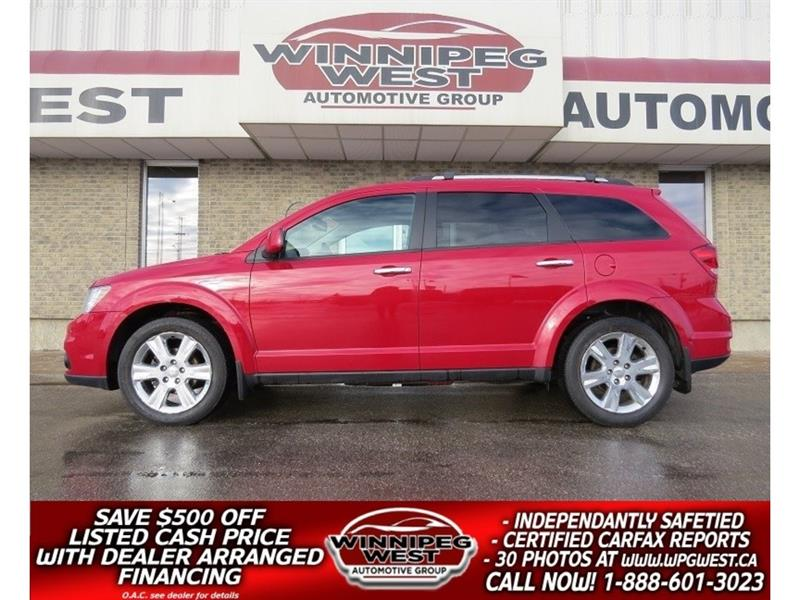 2012 Dodge Journey R/T AWD, LEATHER, NAV, BACK UP CAM, 1-OWNER! #GNW4285