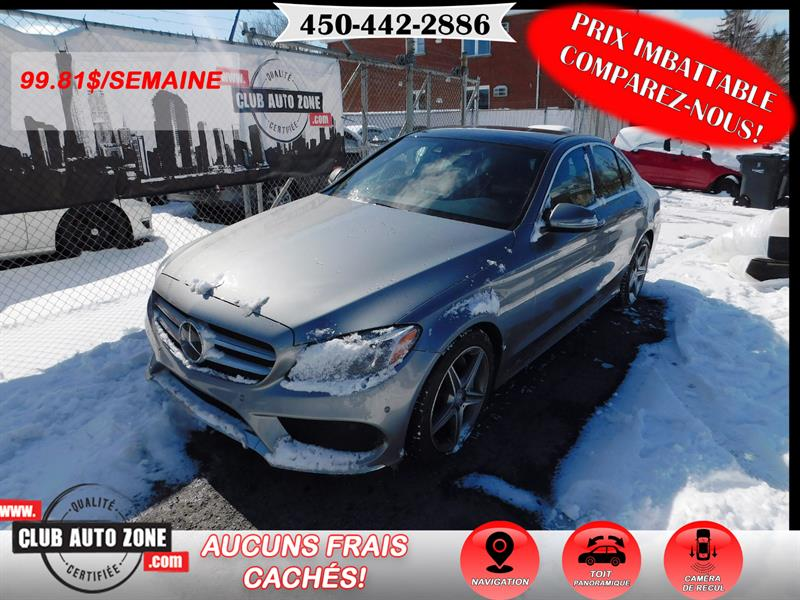 Mercedes-Benz C-Class 2015 MERCEDES-BENZ C400 4 MATIC 2015 TURBO #FU026044