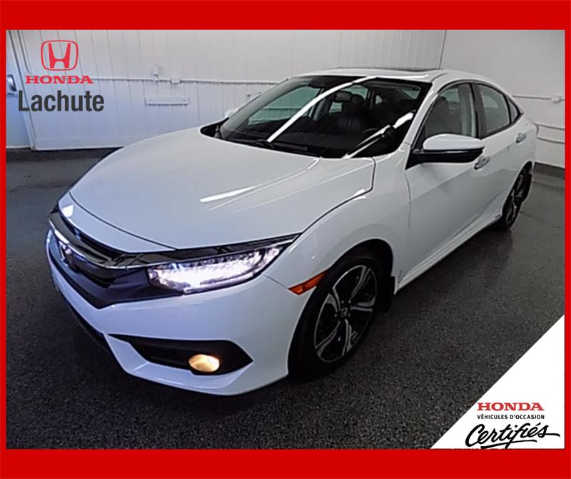 Honda Civic Sedan 2016 TOURING/ NAV/ CUIR/ GARANTIE 2025 #HU-2629
