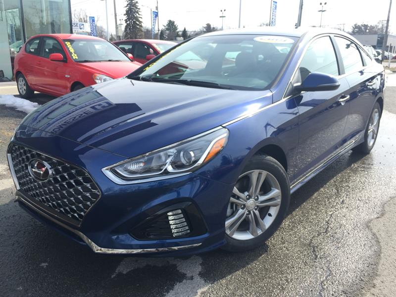 2019 Hyundai Sonata 2.4L, ESS, SPORT, MAG, CUIR, APPLE CARPLAY #L-0134