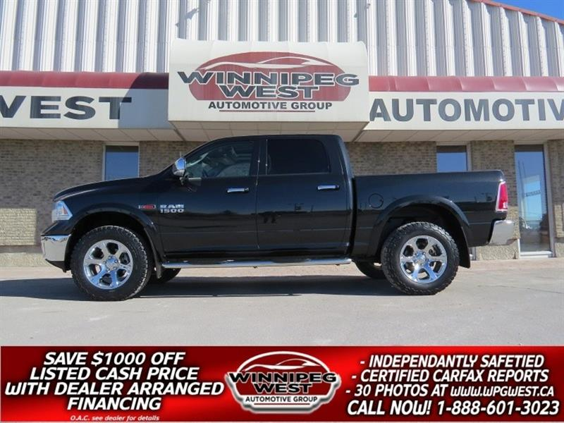 2016 Dodge Ram 1500 LARAMIE CREW 4X4 ECODIESEL, LEATHER, ROOF, NAV #DW5012A