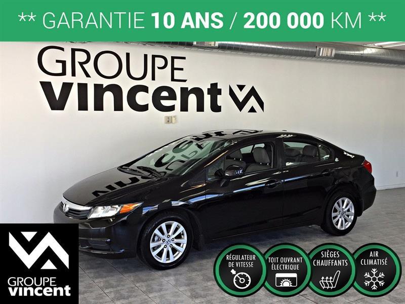 Honda Civic 2012 EX-L  CUIR **GARANTIE 10 ANS** #K0956H