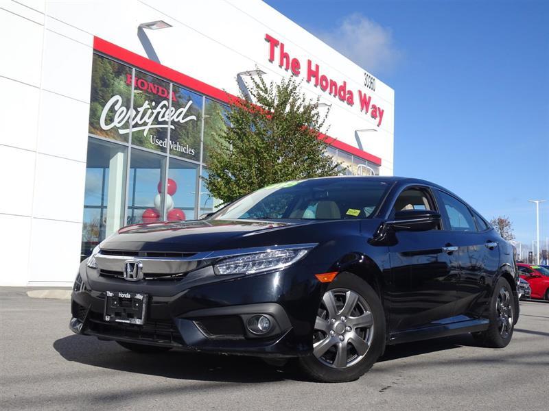 2017 Honda Civic Touring Sedan CVT Warranty until 2024/160,000km -  #P5347