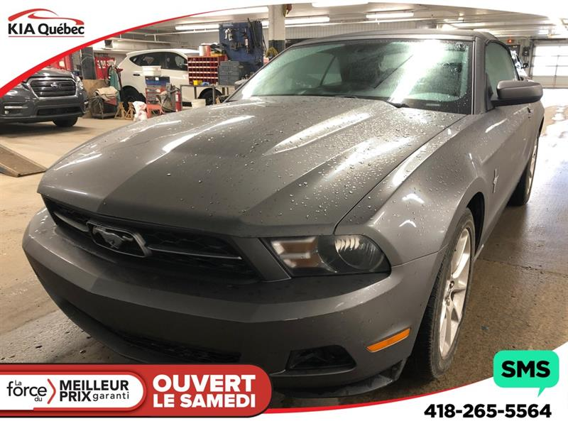 Ford Mustang 2010 V6 *CONVERTIBLE * SHAKER * AUTOMATIQUE #QU10645