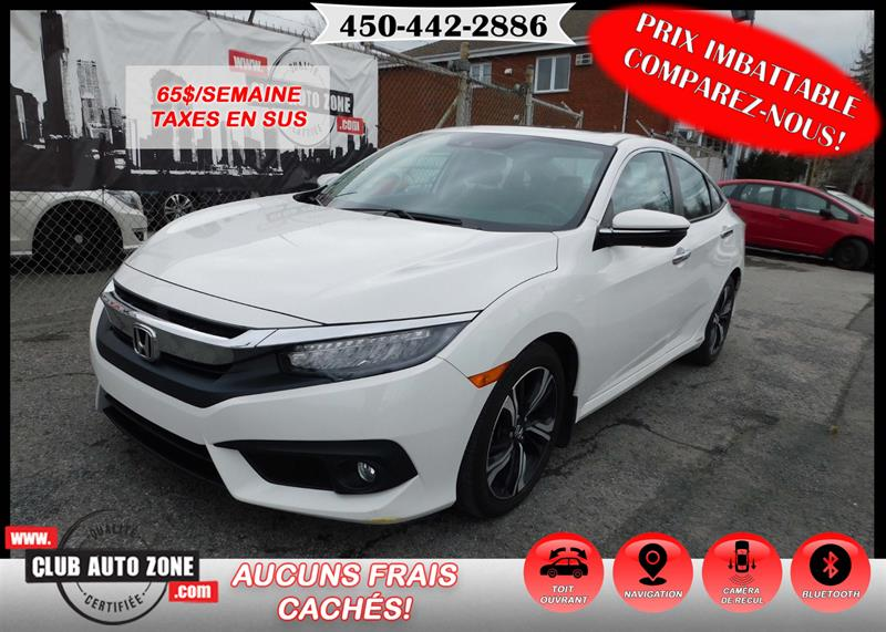 Honda Civic Sedan 2016 TOURING CVT AUTOMATIQUE BLUETOOTH NAVIGATION #GH105403
