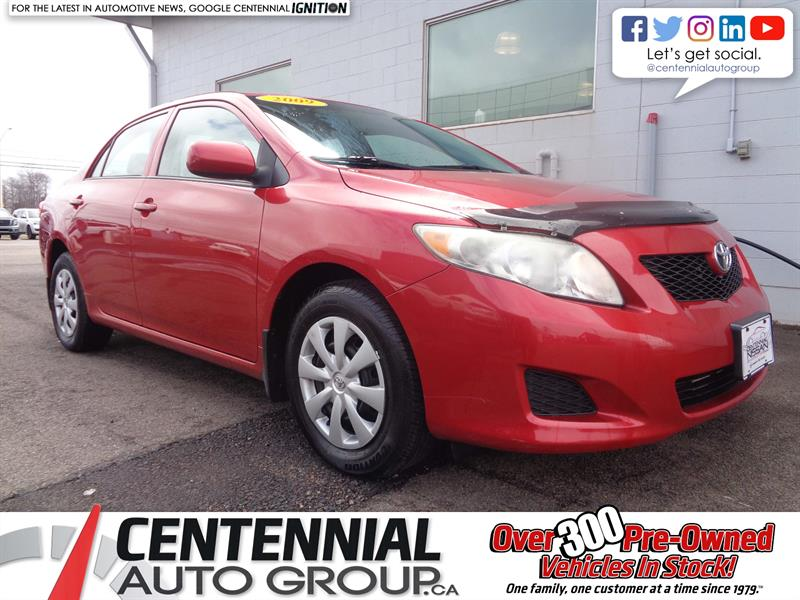 2009 Toyota Corolla CE | FWD | A/C | Low KMs | Great Price! #19-072A