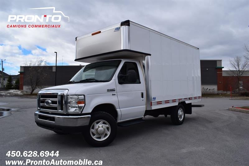 2012 Ford Econoline Commercial Cutaway E-350 ** CUBE 12 PIEDS ** DECK / EXTENSION ** #1823