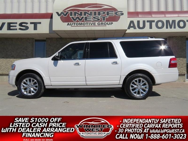 2017 Ford Expedition Max PEARL WHITE LIMITED 8 PASS 4X4, ALL OPTIONS, LOCAL #W5014