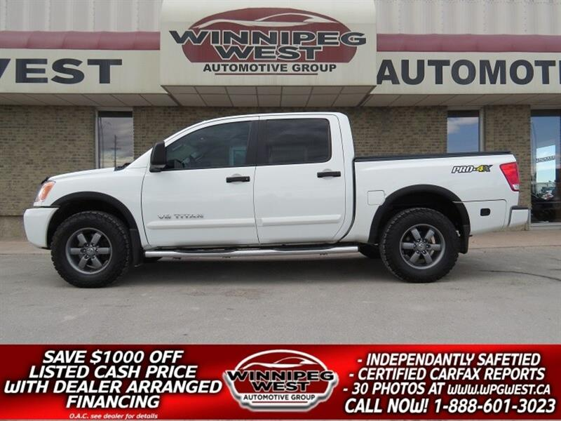 2014 Nissan Titan PRO-4X, 4x4, LEATHER, SUNROOF, NAV, TONNEAU #GW3688