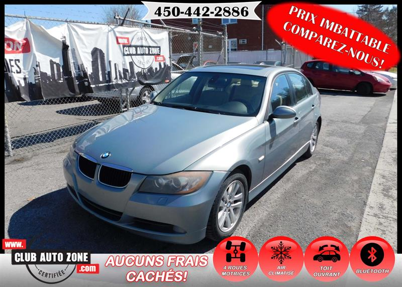 BMW 3 Series 2007 328xi AWD AUTOMATIQUE BLUETOOTH TOIT OUVRANT #7K030837